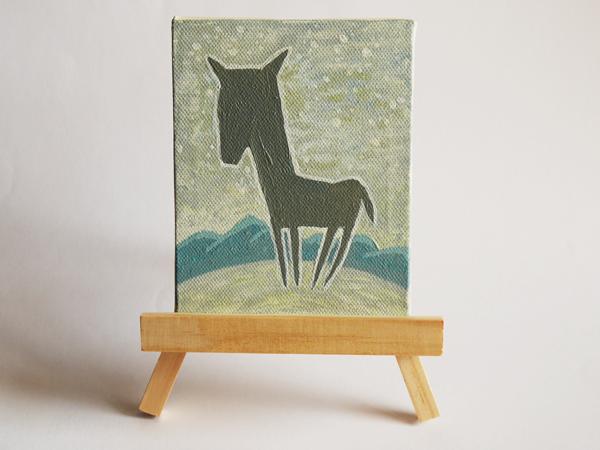 「孤馬の四季/冬」サイズ:MINI