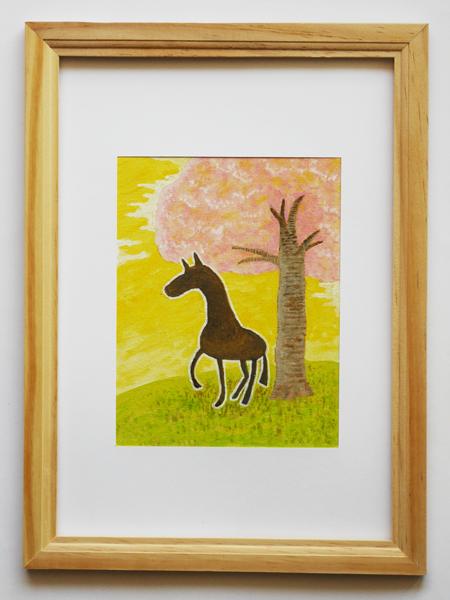 「孤馬の風景/桜」サイズ:F0