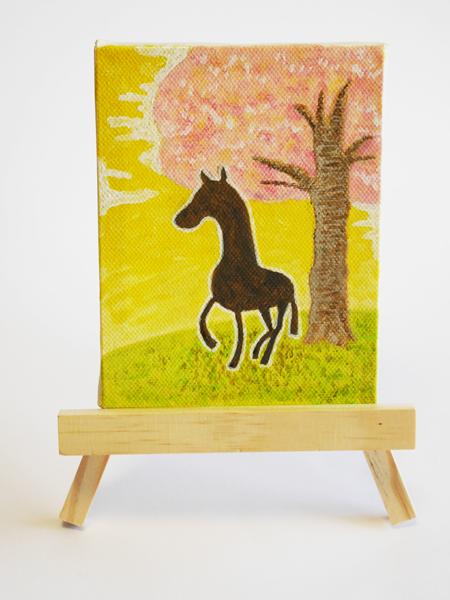 「孤馬の風景/桜」サイズ:MINI