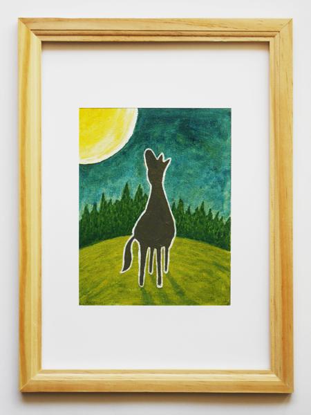 「孤馬の風景/月」サイズ:F0