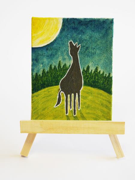 「孤馬の風景/月」サイズ:MINI