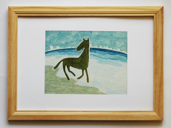 「孤馬の風景/海」サイズ:F0