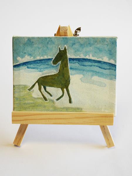 「孤馬の風景/海」サイズ:MINI