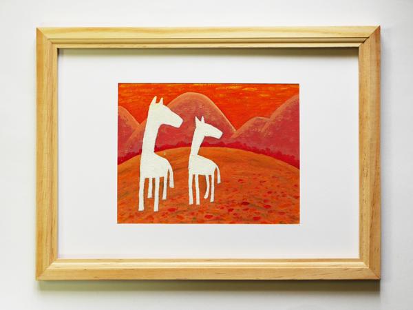 「双馬の四季/秋」サイズ:F0