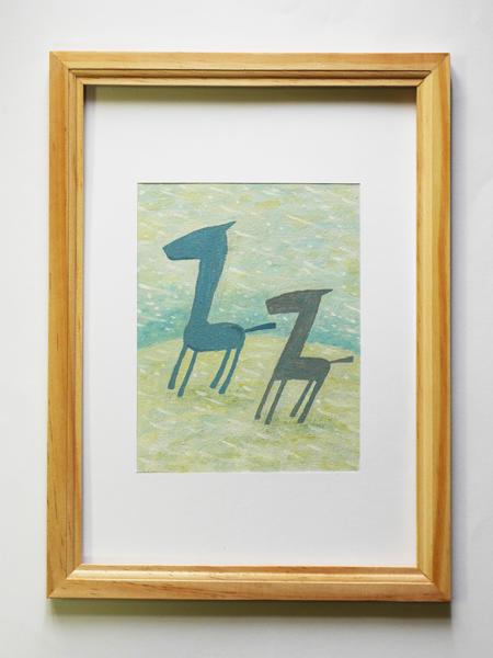 「双馬の四季/冬」サイズ:F0