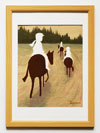 乗馬の景色/ゆうべの野外騎乗